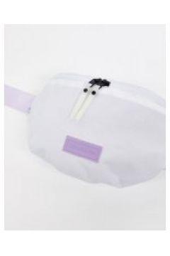 Consigned - Marsupio con fascia in tessuto a contrasto leopardato-Bianco(120399375)