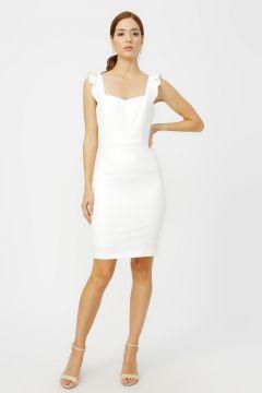 Random Kırık Beyaz Elbise(126400086)