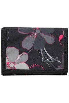 Portefeuille DDP Portefeuille ultra plat toile motif fleurs noir et gris(115404194)