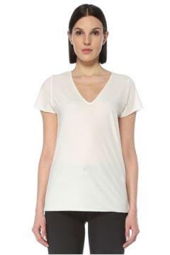 Allsaints Kadın Emelyn Tonic Beyaz V Yaka Basic T-shirt S EU(126795837)