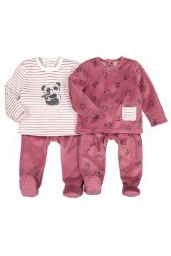 Lote 2 pijamas de 2 prendas de terciopelo, 6 meses-4 años(118159461)