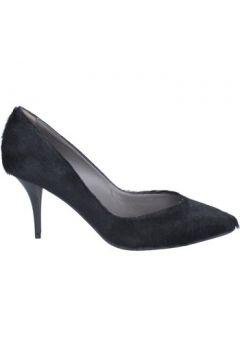 Chaussures escarpins Le Marrine escarpins noir cheveux veau BX28(115442468)