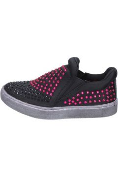 Chaussures enfant Lulu slip on noir textile strass BT332(115442793)