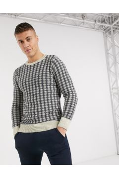 New Look – Mörkblå och vit tröja(113043333)