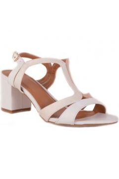 Sandales Primtex Sandales nus pieds blanc nude à talon bas carré(101638900)