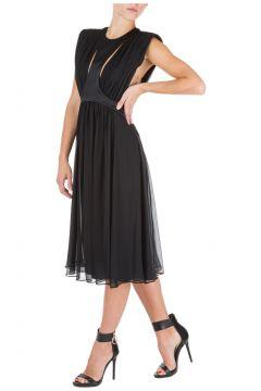 Women's calf length dress sleeveless(116887591)