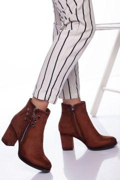 Ayakkabı Frekansı Kadın Taba Süet Royel Bot(121162045)