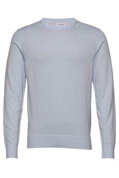 Cotton Silk C-Neck Sweater Strickpullover Rundhals Blau CALVIN KLEIN(109112502)