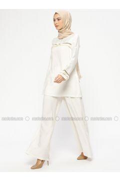 White - Ecru - Unlined - Suit - MARKESRA(110314803)