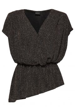 Hallie Blouses Short-sleeved Schwarz RAVN(114153556)
