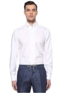 Luciano Barbera Erkek Beyaz Polo Yaka Gömlek XXXL EU(115894086)
