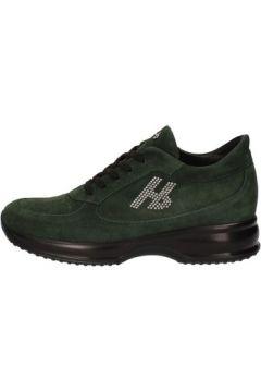 Chaussures Hornet Botticelli sneakers vert daim AE309(115399443)