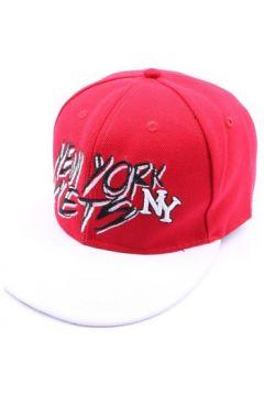 Casquette Hip Hop Honour Casquette fitted rouge et visière blanche(115396363)