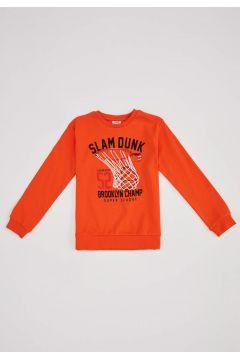 DeFacto Erkek Çocuk Super League Baskılı Örme Sweatshirt(125928045)