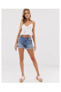 Miss Selfridge - Boyfriend-Shorts in mittlerer Waschung - Blau(95031982)