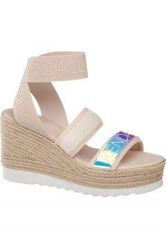 Kendall Kylie Kadın Ten Rengi Dolgu Topuk Sandalet(120183902)