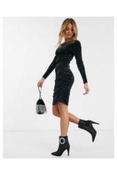 Ivyrevel - Vestito corto in velluto nero(121394492)