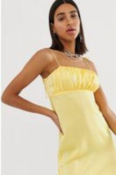 Reclaimed Vintage Inspired - Minikleid mit Trägern - Gelb(94961887)