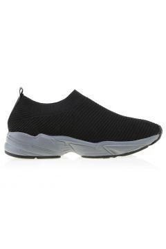 Limon Suni Deri Siyah Sneaker(113996704)
