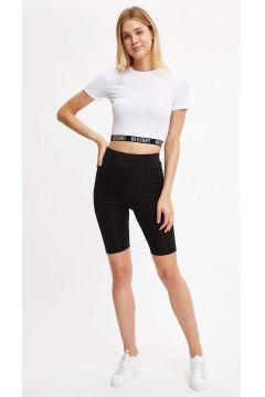 DeFacto Kadın Basic Slim Fit Bisiklet Taytı(125930499)