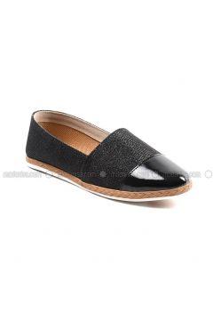 Black - Flat - Flat Shoes - Sapin(110335451)
