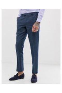 Harry Brown - Wedding - Sommerliche Tweed-Anzugshose aus einer Wollmischung in schlanker Passform - Blau(90473222)