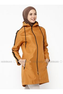 Mustard - Fully Lined - Trench Coat - Dadali(110323030)