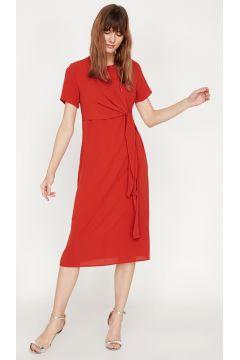 Koton Bel Detaylı Kırmızı Elbise(113981714)