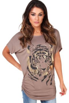 T-shirt Krisp ~Tiger Foil Imprimer Top~(115498226)