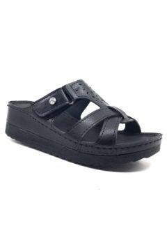 Muya 98318 Günlük Anatomik Cırtlı Siyah Kadın Yazlık Terlik Ayakkabı(123425046)