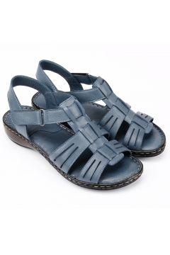 G.Ö.N Mavi Antik Kadın Sandalet(110963127)