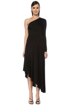 Alexis Kadın Addison Siyah Tek Kol Asimetrik Midi Elbise XS EU(107864300)