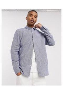Pull&Bear - Camicia a righe verticali blu(124791050)