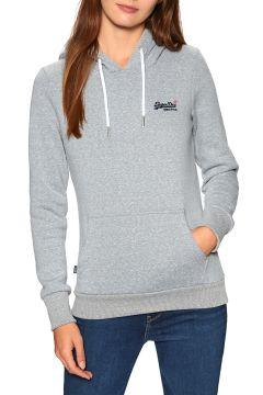 Pullover à Capuche Femme Superdry Orange Label Overhead - Grey Snowy(120987651)
