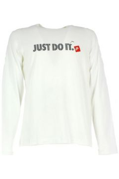 Sweat-shirt Nike T-SHIRT MANICA LUNGA BIANCA(115477808)