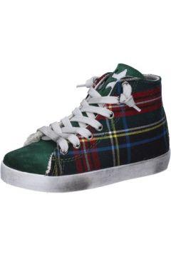 Baskets enfant 2 Stars sneakers vert textile daim AD886(115393788)