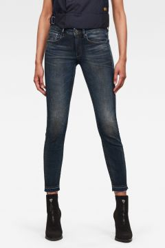 G-Star RAW Women 3301 Mid Skinny Ripped Edge Ankle Jeans Dark blue(119215399)