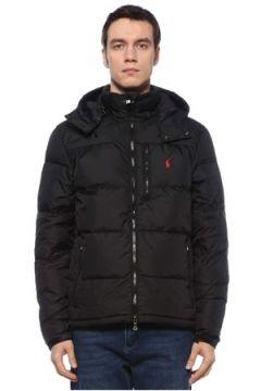 Polo Ralph Lauren Erkek Siyah Kapüşonlu Logolu Puff Mont S EU(125279171)