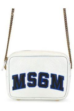 Sac Bandouliere Msgm Femme Blanc Cuir Sac A Bandouliere(101554043)