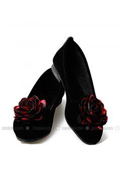 Black - Maroon - Flat - Flat Shoes - Renkli Butik(110333816)
