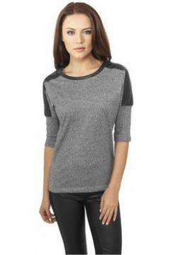T-shirt Urban Classics Sweat col rond chiné avec simili(127966097)