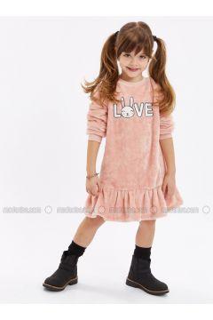 Pink - Printed - Age 8-12 Dress - LC WAIKIKI(110341993)