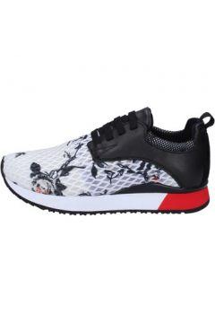 Chaussures London sneakers noir textile blanc cuir BT252(98484516)