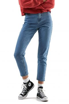 Jeans Femme Afends Blondies Denim Slim - Classic Blue(114508452)