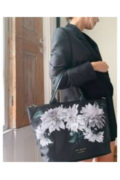 Ted Baker - Paarmis Clove - Maxi borsa in nylon con stampa a fiori-Nero(122917633)