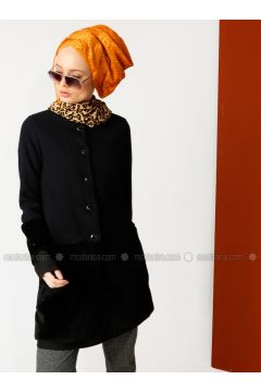 Black - Unlined - Crew neck - Cotton - Jacket - Meryem Acar(110327065)