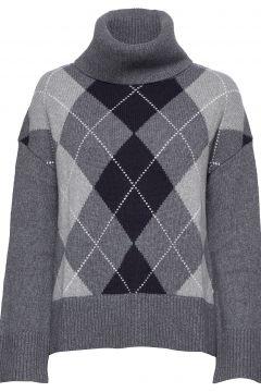 Marceline Knit Rollkragenpullover Poloshirt Grau MORRIS LADY(114152064)
