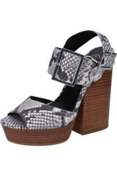 Sandales Ash sandales gris cuir python AB630(115393848)