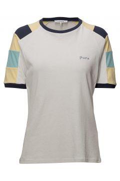 Blocked Tee T-Shirt Top Weiß FRAME(114150677)