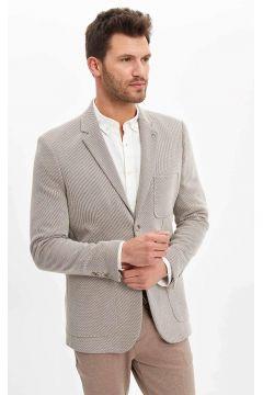 DeFacto Erkek Desenli Slim Fit Blazer Ceket(119061022)